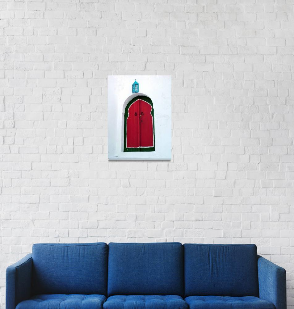 """Blue Lantern Over the Door""  by DonnaCorless"