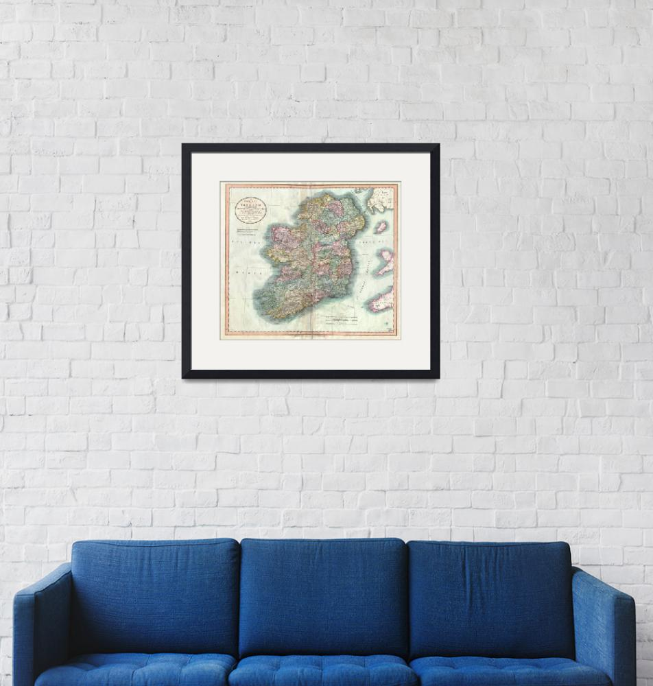 """""""Vintage Map of Ireland (1799)""""  by Alleycatshirts"""