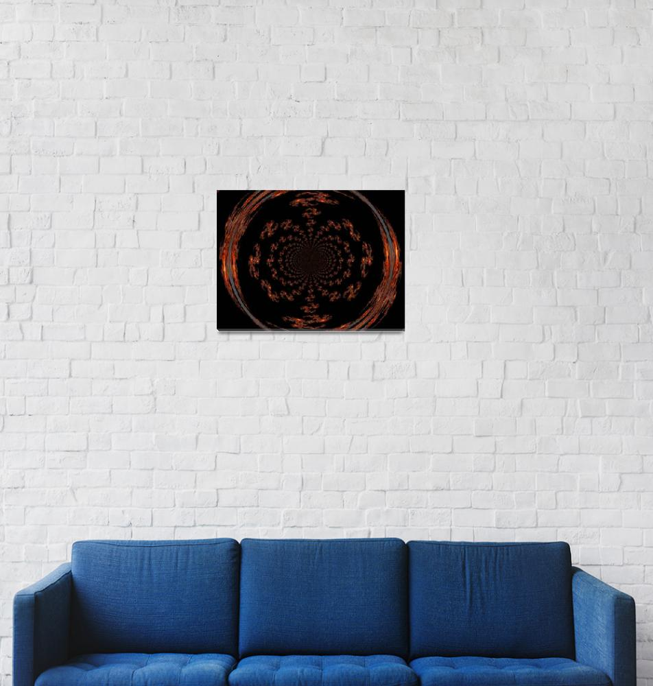 """Mandala of Gold and Black I""  by Atlantis-Seeker-Art"
