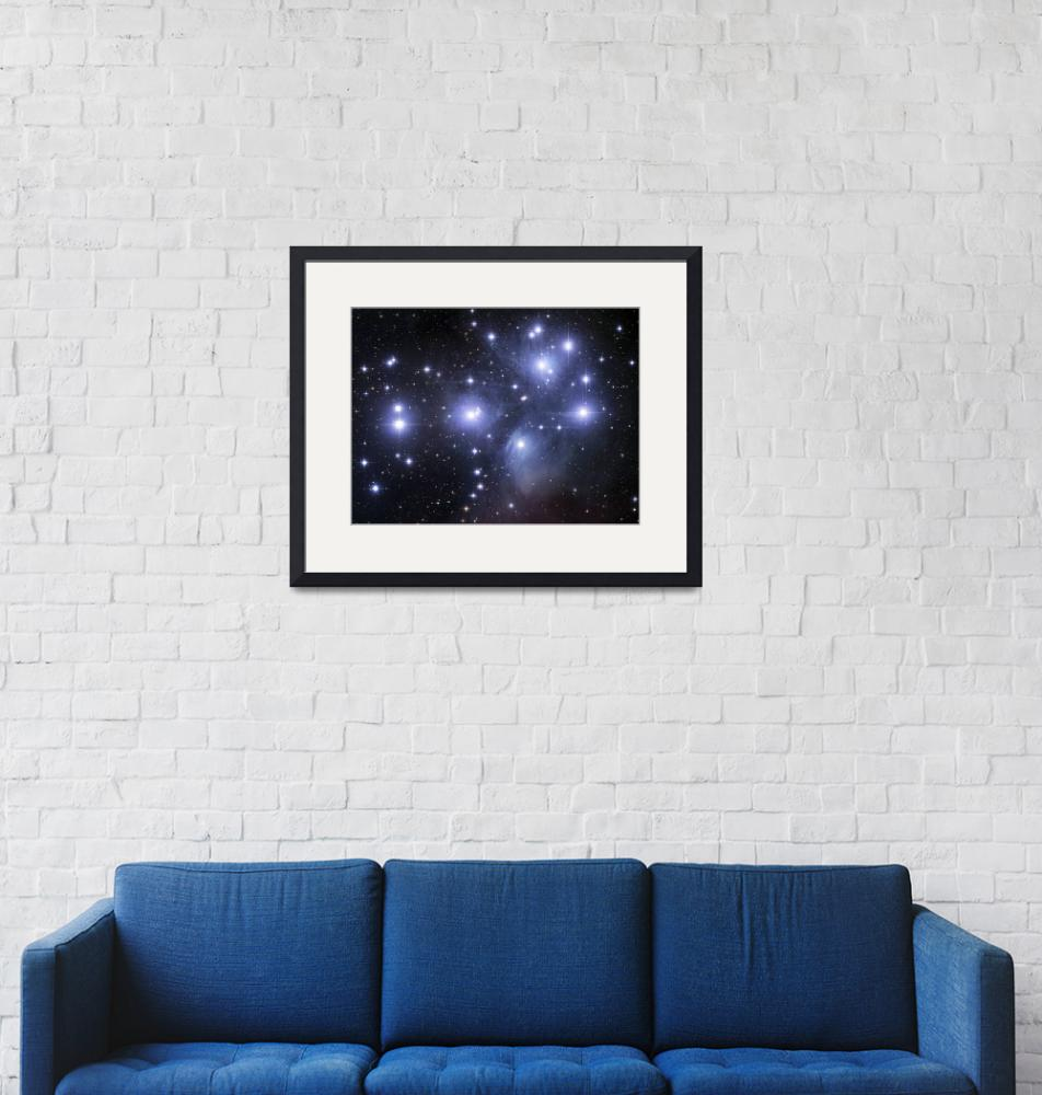 """""""GEN100018S: Open cluster known as The Pleiades.""""  by stocktrekimages"""