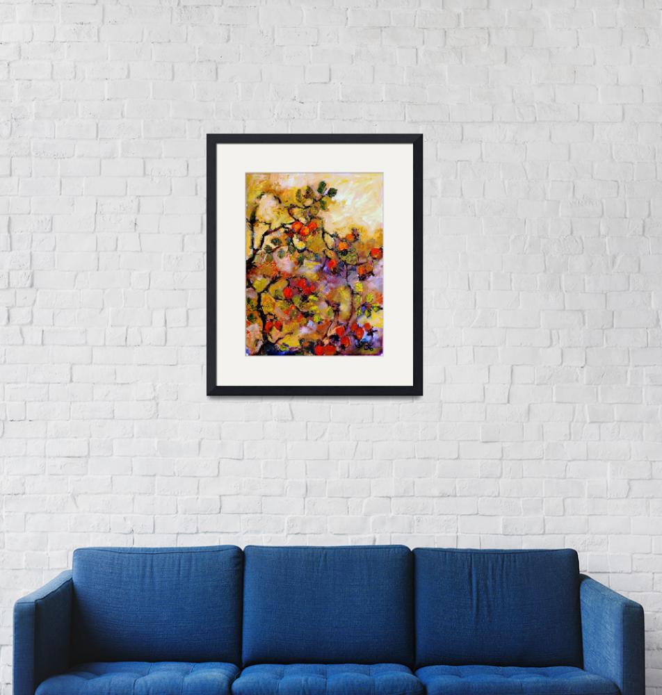 """""""Rosehips Modern Impressionism Oil Painting""""  (2006) by GinetteCallaway"""