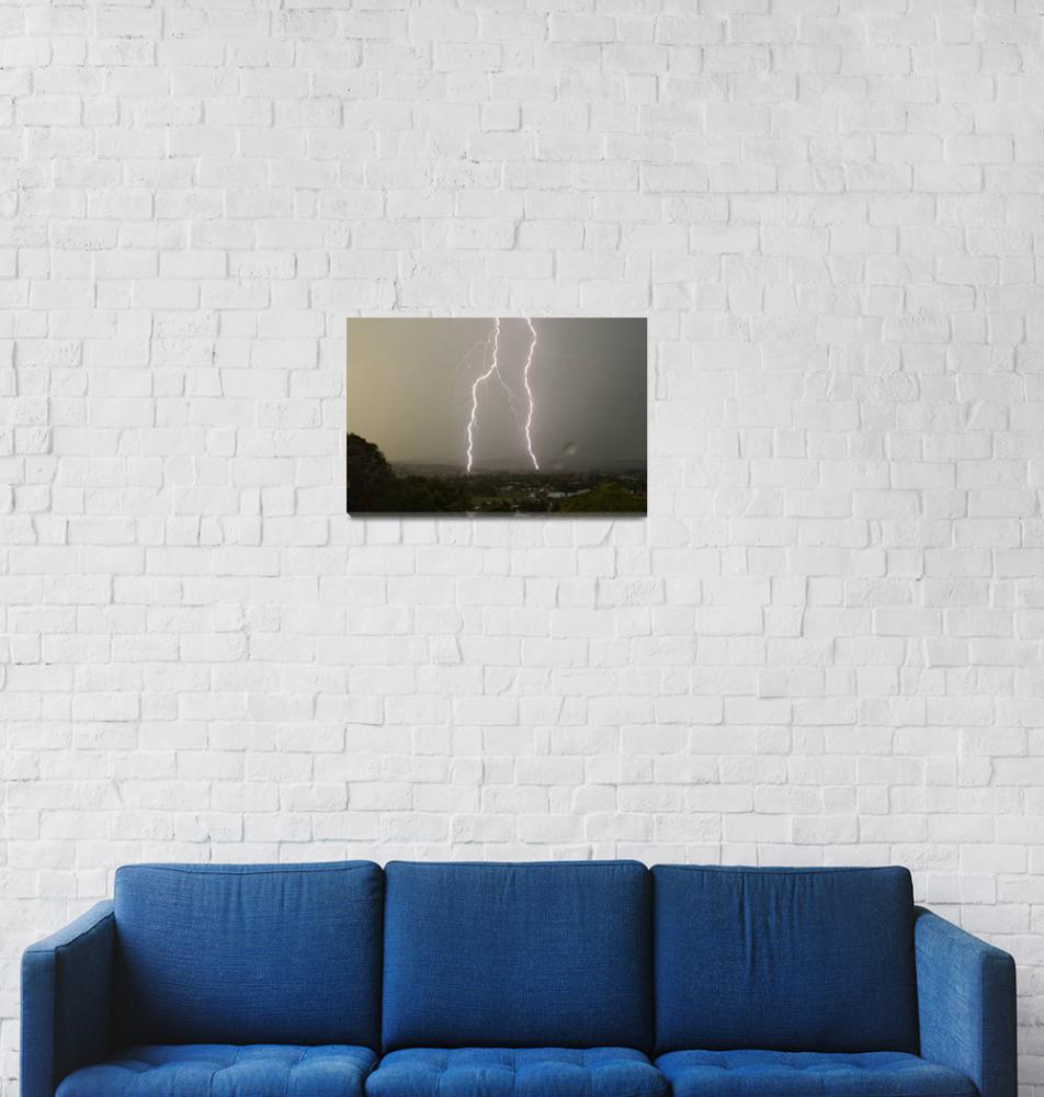 """Lightning Over Kyogle""  (2007) by lightning"