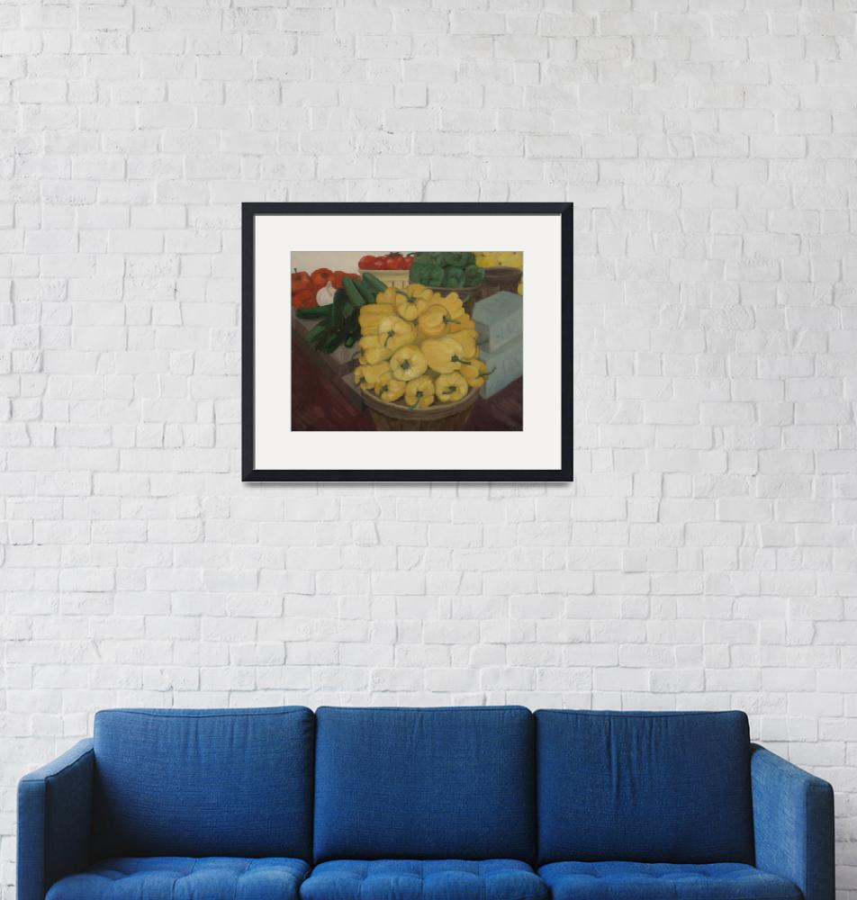 """""""Yellow Peppers""""  (2009) by joanbarber"""
