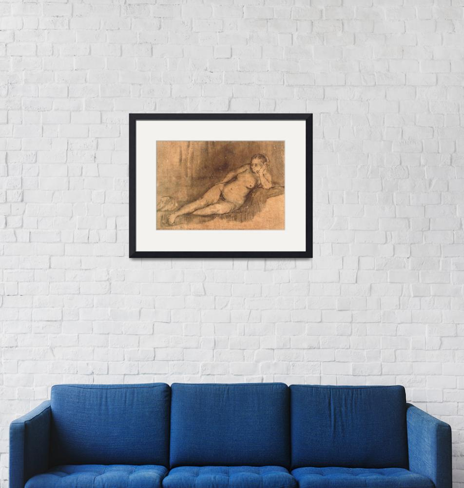 """""""Reclining Female Nude""""  by ArtLoversOnline"""