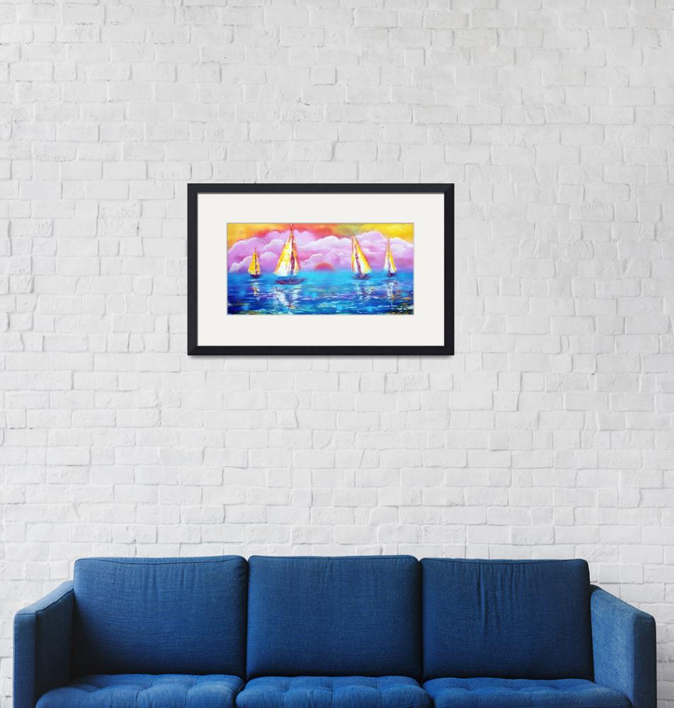 """""""Cotton Candy Cove""""  (2015) by ArtPrints"""