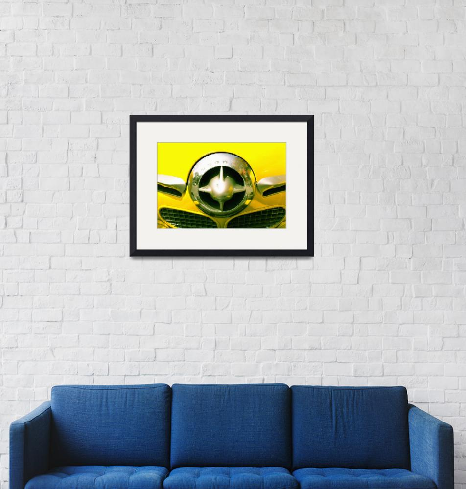 """""""The Grill Of A Yellow Studebaker Car""""  by DesignPics"""