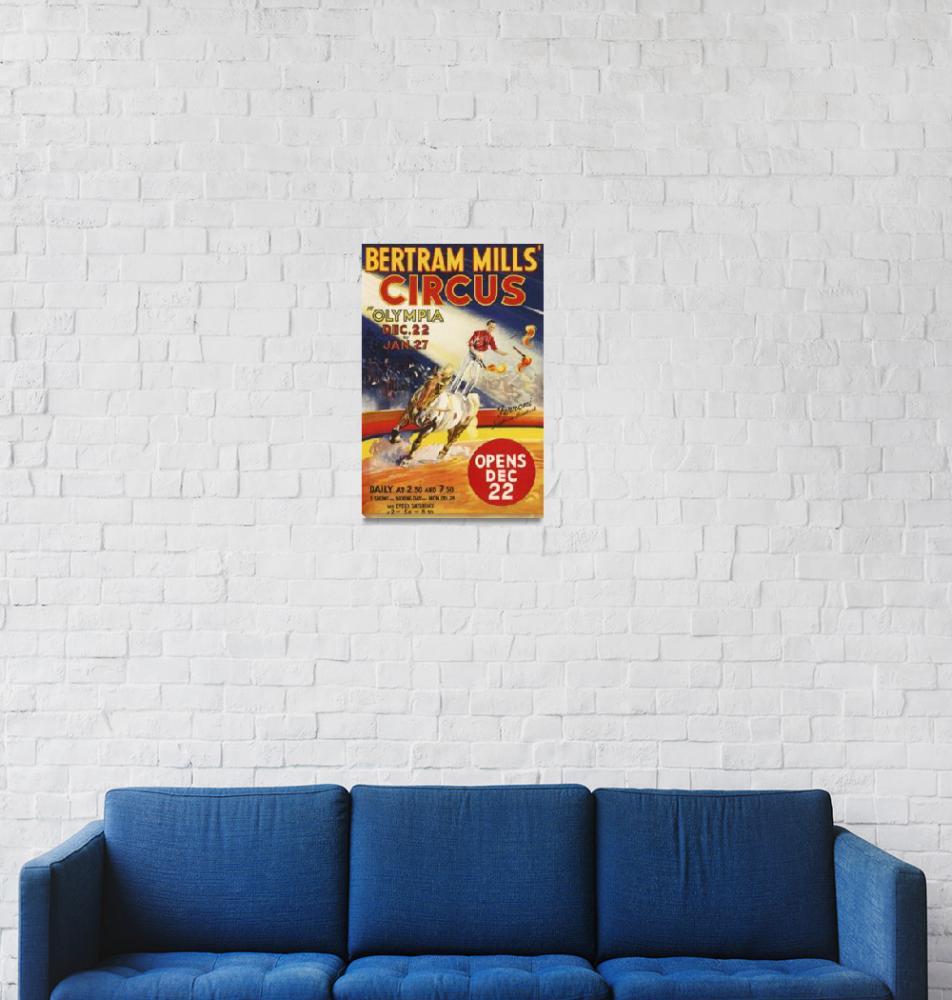 """Bertram Mills Circus Vintage Poster""  by FineArtClassics"
