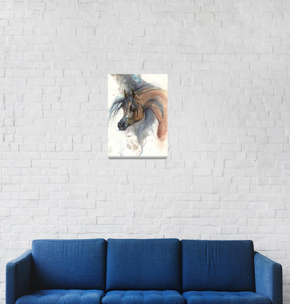"""arabian horse portrait""  (2014) by tarantella"