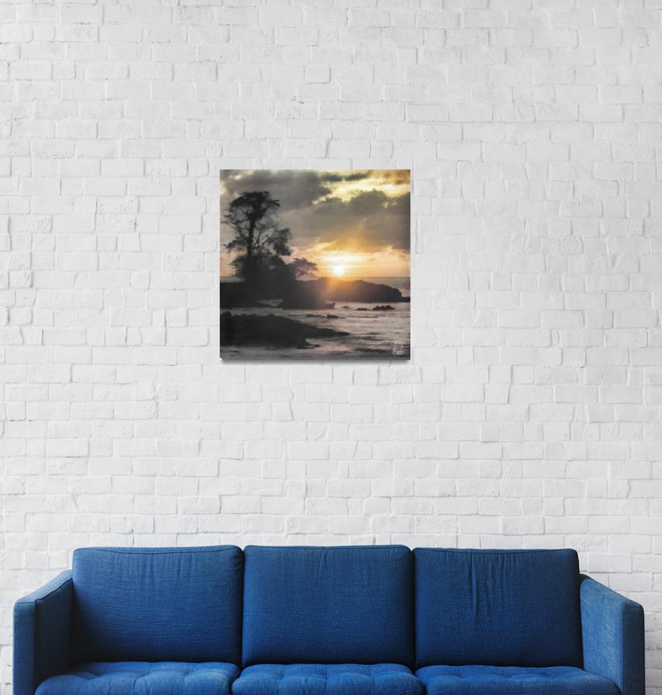 """Sunset on Playa Blanca Island - Choco - Colombia""  (2015) by plinio"