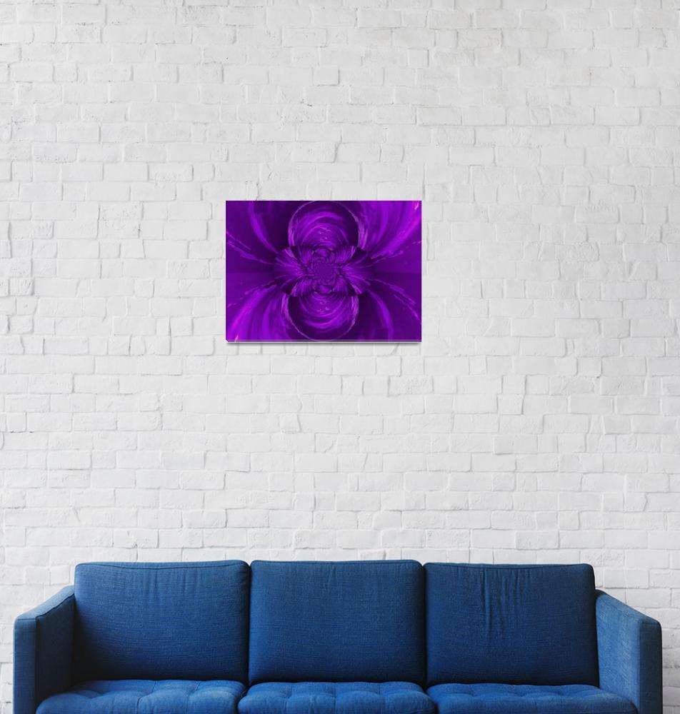 """Purple Lotus Flower""  by Atlantis-Seeker-Art"