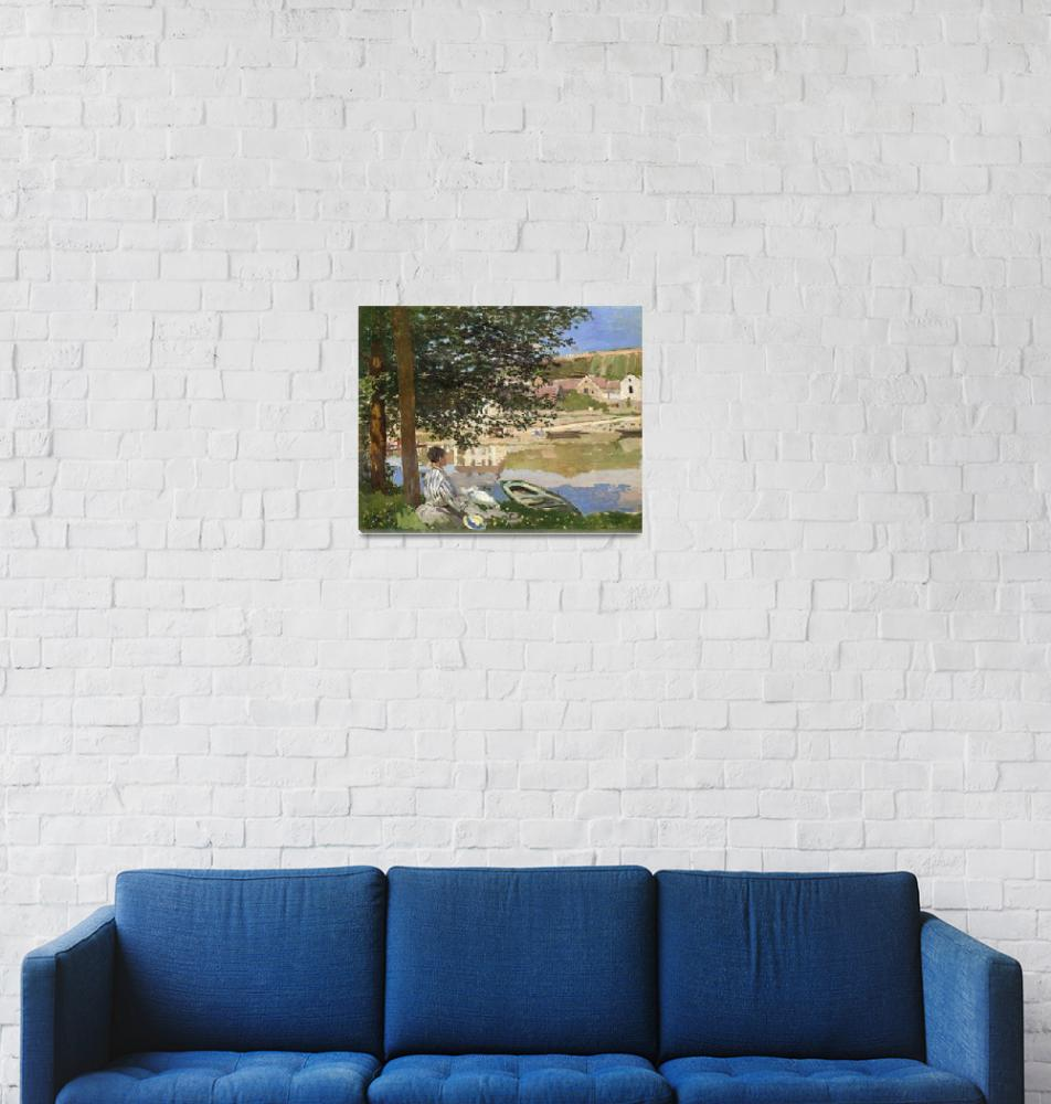 """""""On the Bank of the Seine, Bennecourt by Monet""""  by FineArtClassics"""