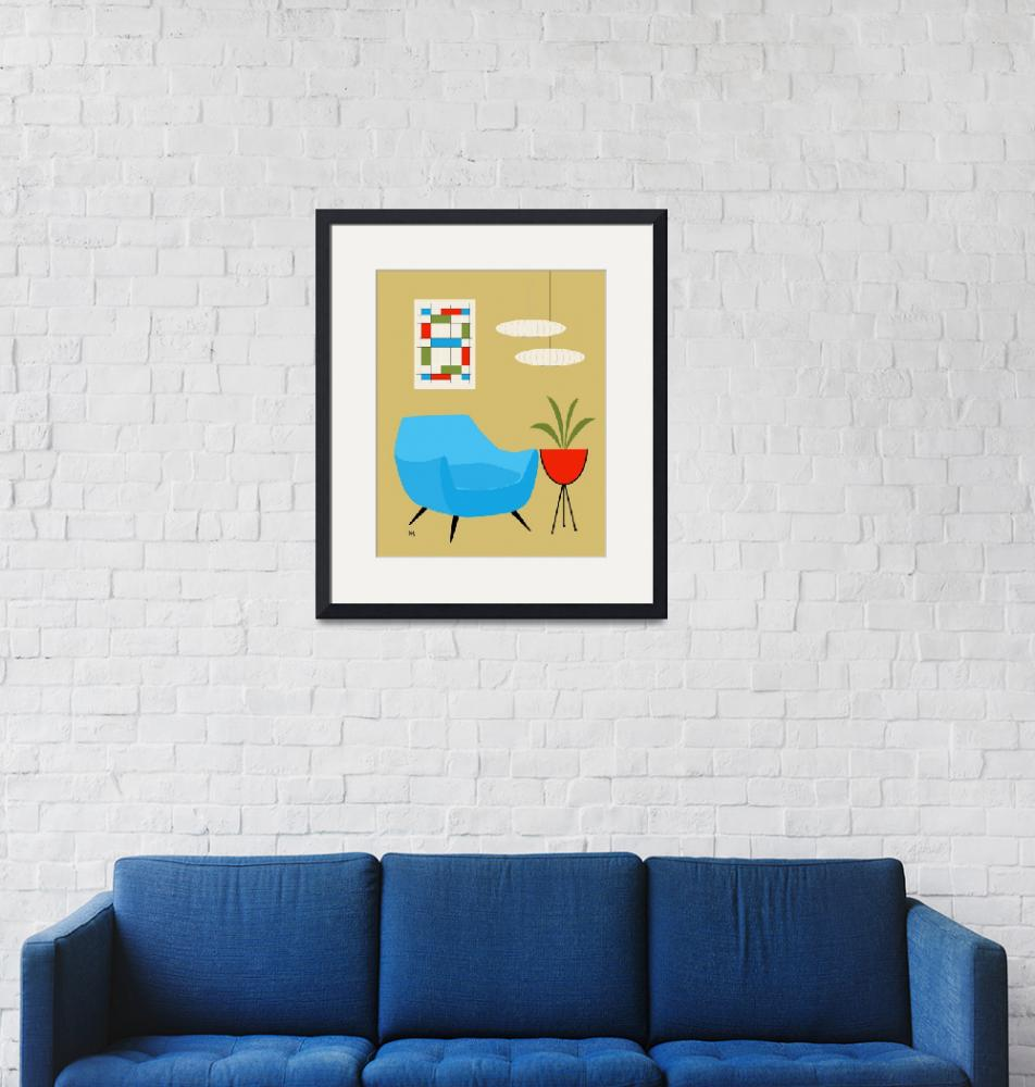 """""""mini abstract turquoise chair No Cat""""  by DMibus"""