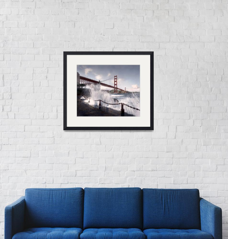"""""""Golden Gate Bridge from Fort Point, San Francisco""""  (1980) by worldwidearchive"""