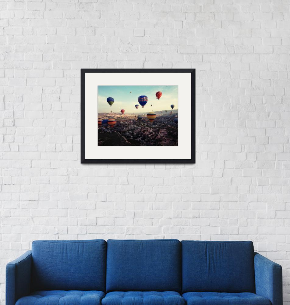 """Cappadocia Turkey Hot Air Balloons""  (2015) by MarilynsArt"