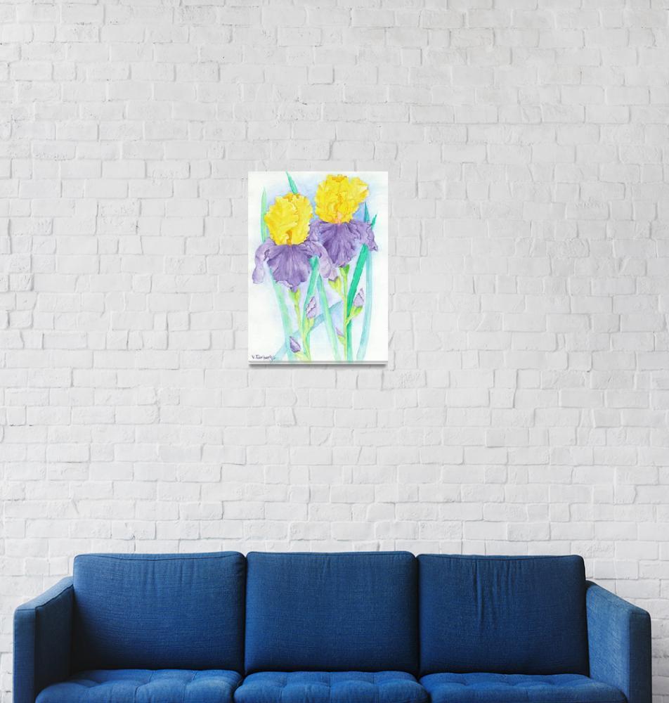"""Iris III""  (2008) by VickiFairbanksWatercolor"