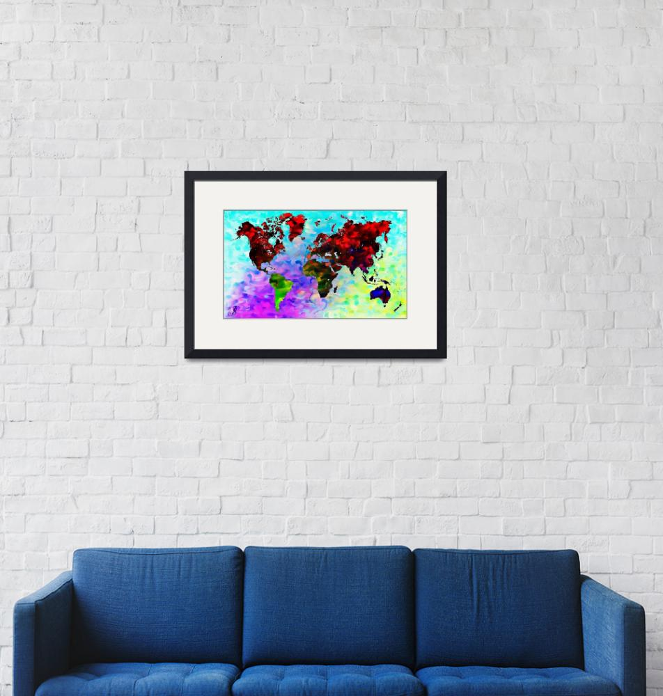 """""""Word World Map""""  (2012) by D77TheDigArtisT"""