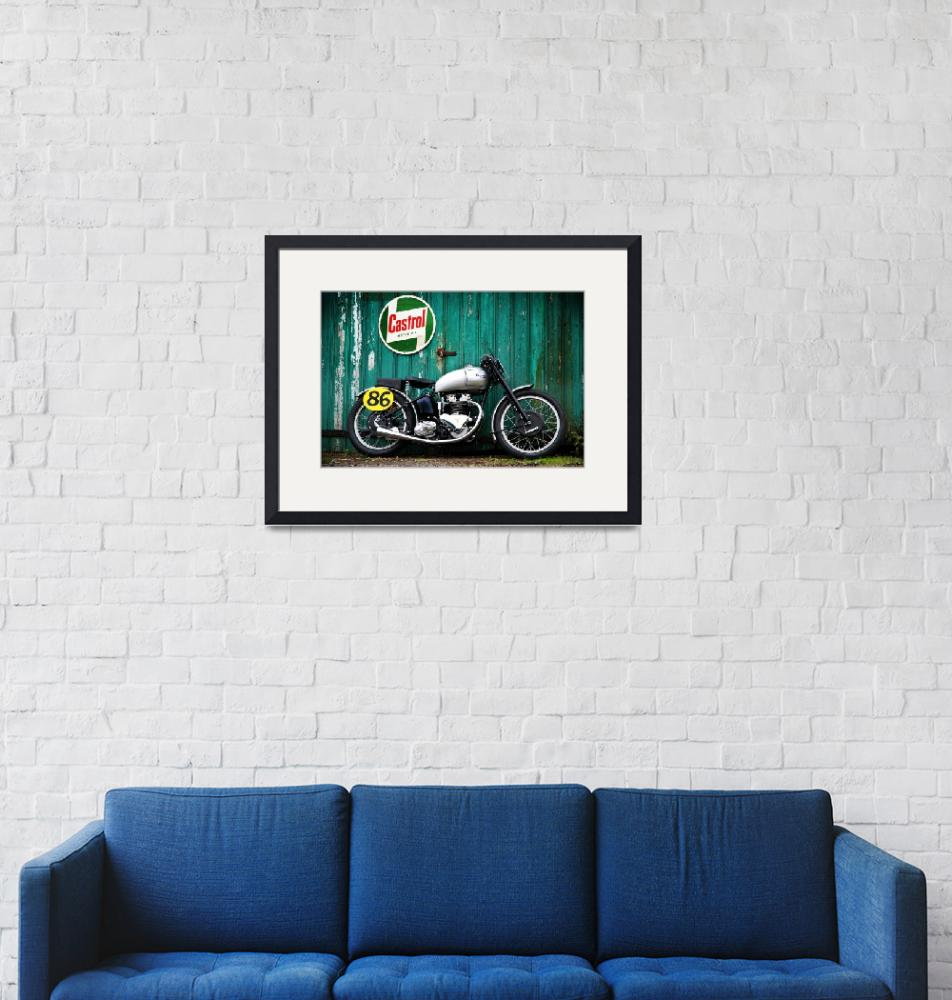 """""""The 1949 Triumph GP Motorcycle""""  (2010) by mark-rogan"""