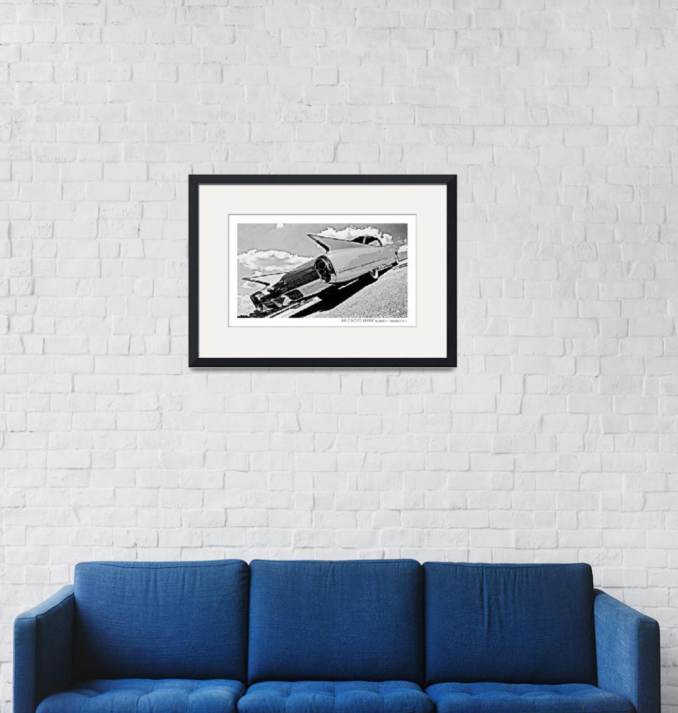 """""""1960 Cadillac Poster""""  (2015) by Automotography"""