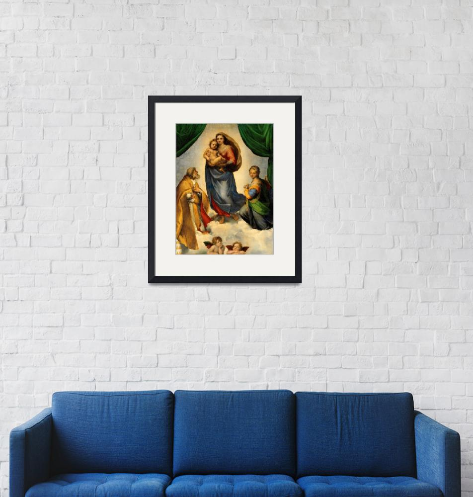 """""""Sistine Madonna Virgin Mary and Child Jesus Art""""  (1910) by Maggy"""
