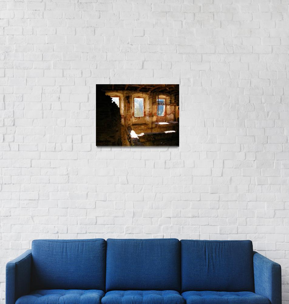 """Interior Shot of an Old Castle""  by Artsart"