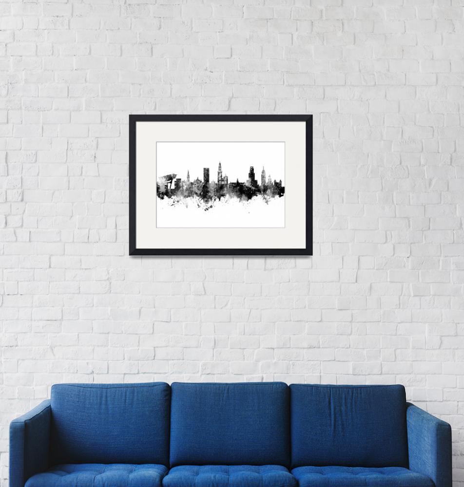 """Antwerp Belgium Skyline""  (2019) by ModernArtPrints"
