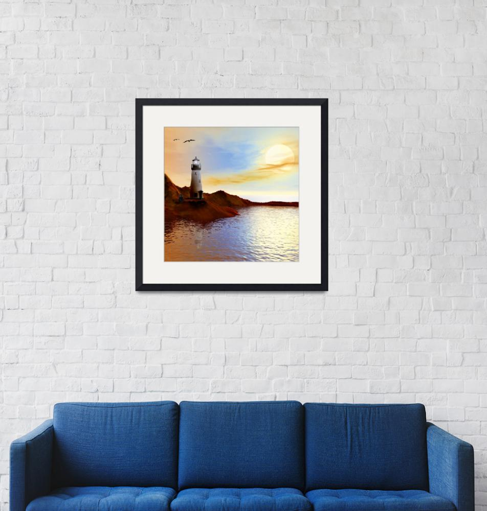 """""""Lighthouse 3""""  (2019) by AnneVis"""