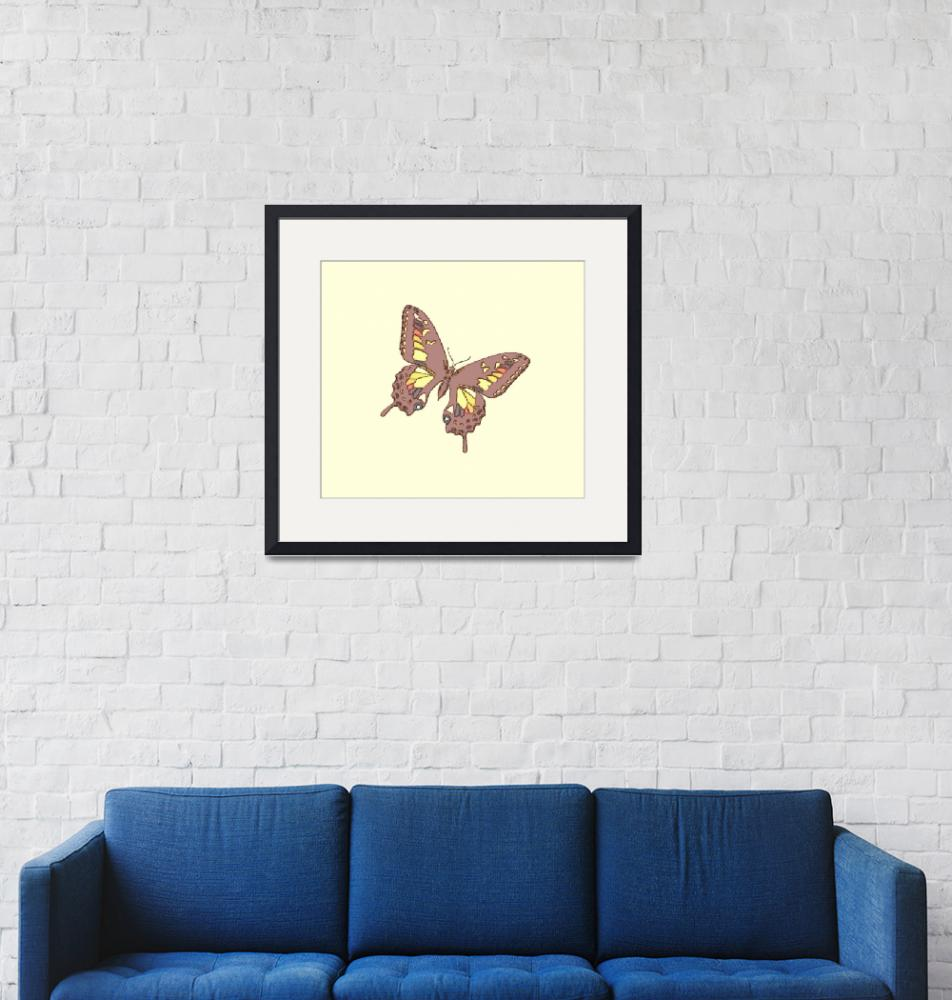 """""""Brown Charcoal Butterfly"""" (2013) by TheNorthernTerritory"""