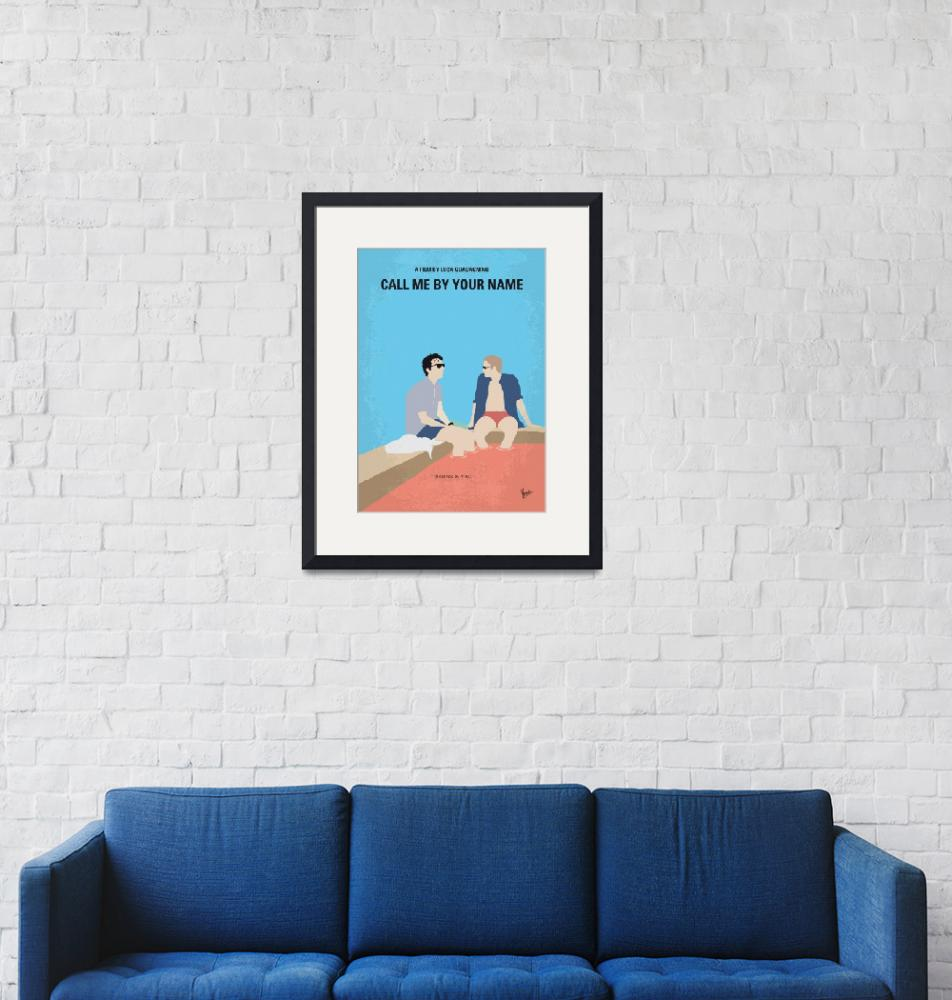 """""""No1124 My Call Me by Your Name minimal movie poste""""  by Chungkong"""
