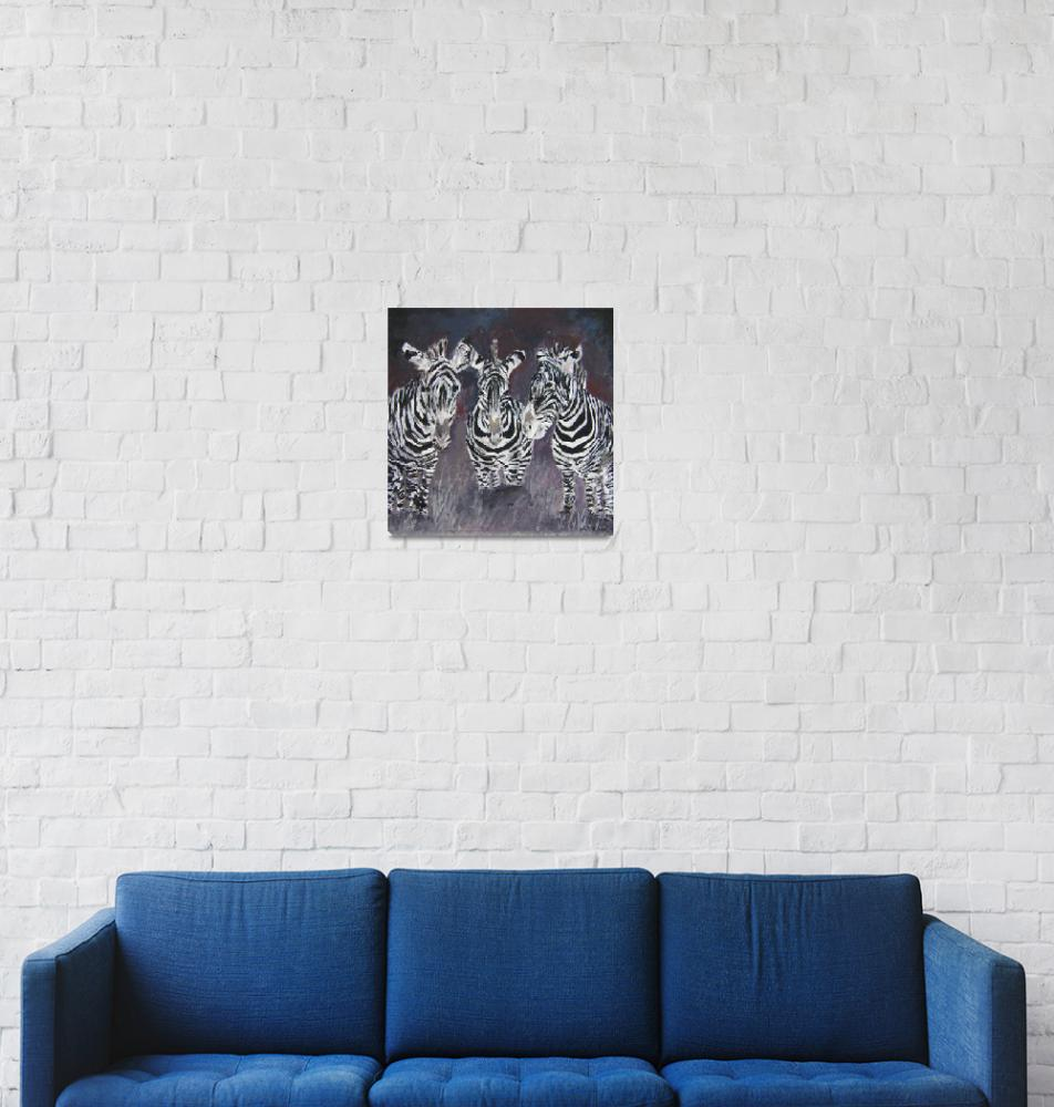 """zebra painting print""  (2009) by derekmccrea"