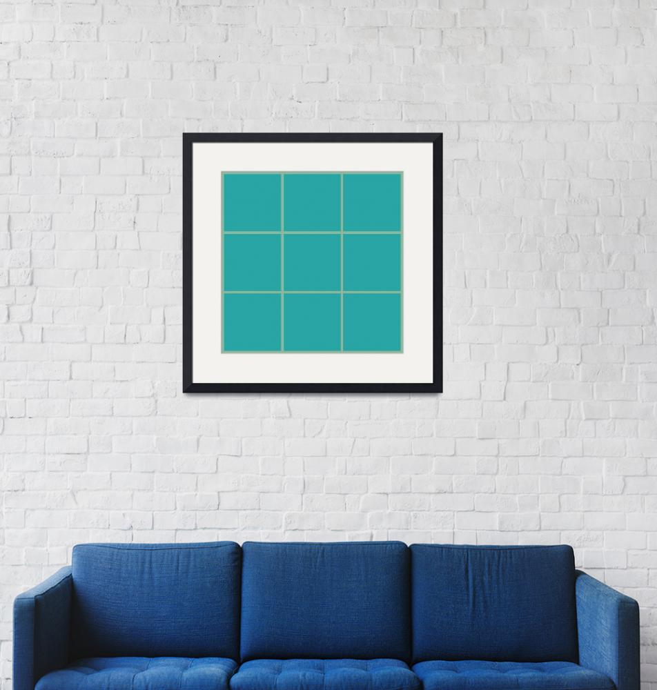 """Blue Window 100 Canvas Contemporary Modern""  (2010) by Ricardos"
