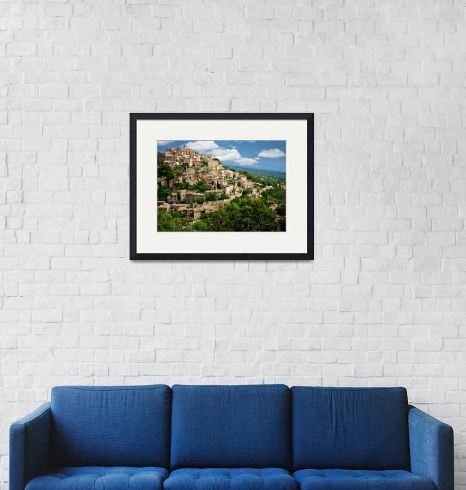 """""""Gordes Hill Town (Provence)"""" (2007) by Inge-Johnsson"""