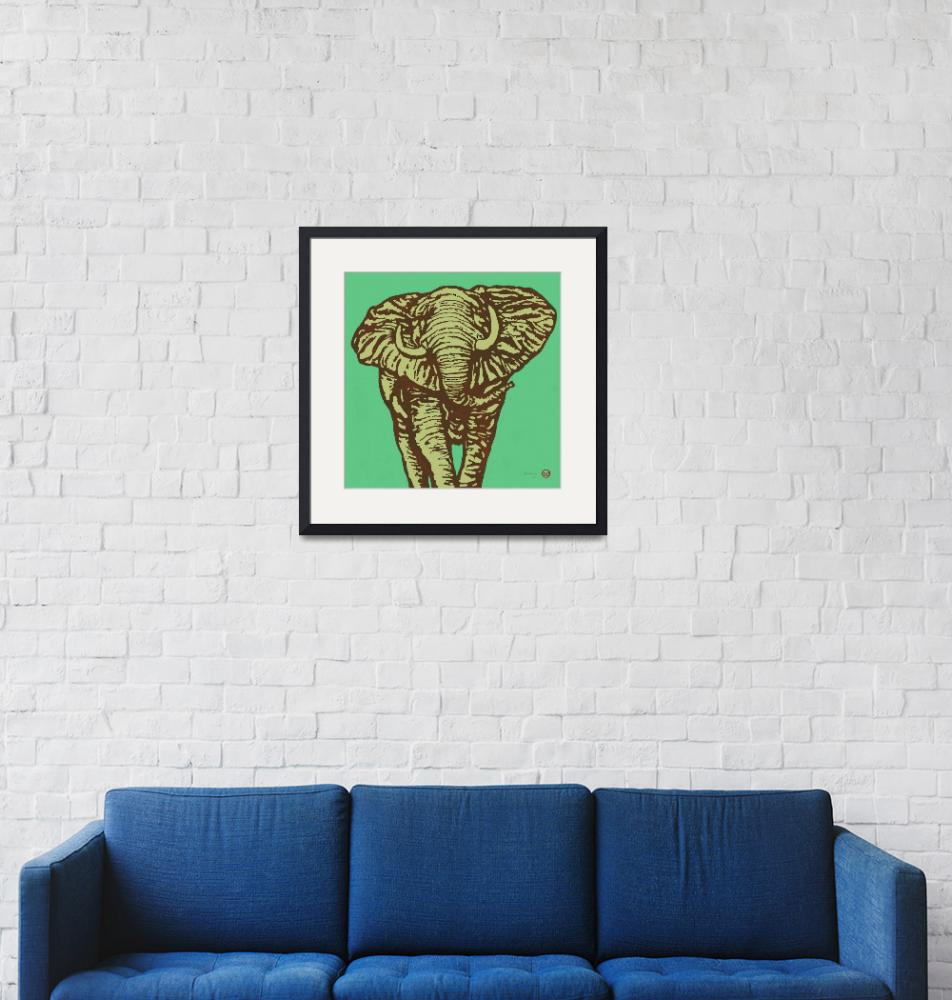 """""""Eehpant Wild Animal Stylised Pop Art  Poster""""  (2014) by visualharbour"""
