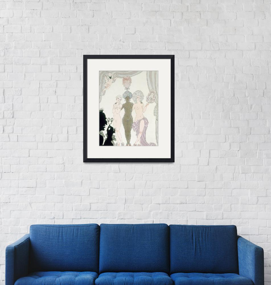 """""""The Three Graces (pen, ink and w/c on paper)""""  by fineartmasters"""