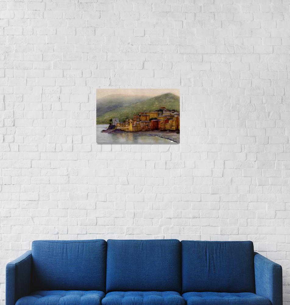 """Camogli, Italy""  (2006) by Nanwright"