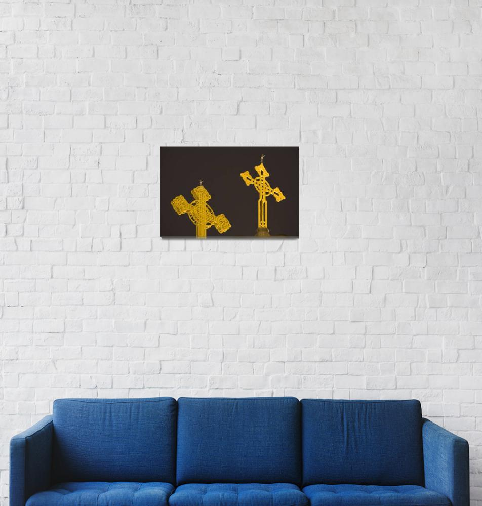 """""""Yellow crosses""""  (2007) by IanMiddletonphotography"""