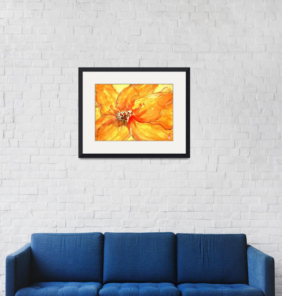 """""""Washed Lily""""  (2009) by LindaArt"""