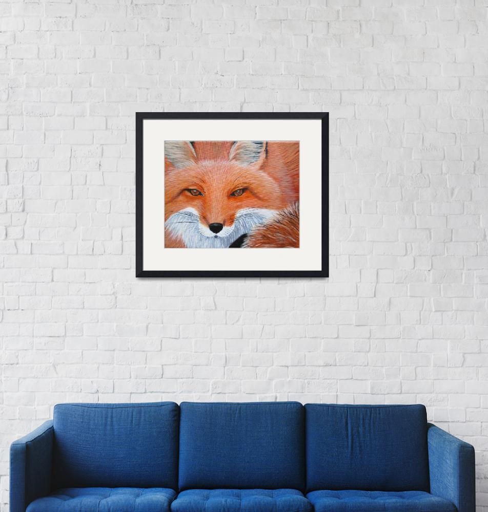 """""""Fox Close Up"""" (2011) by wildlifeandabstractart"""