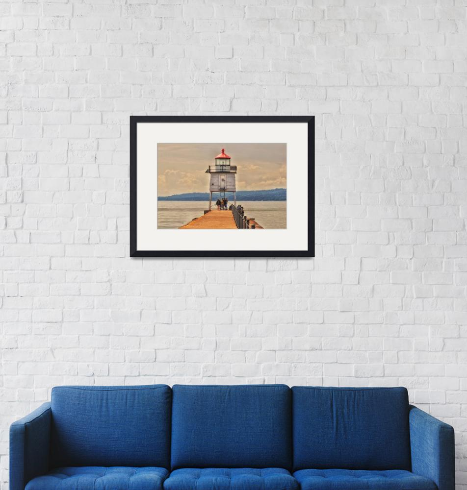 """""""Lighthouse Two Harbors Minnesota""""  (2019) by LJdesigns"""