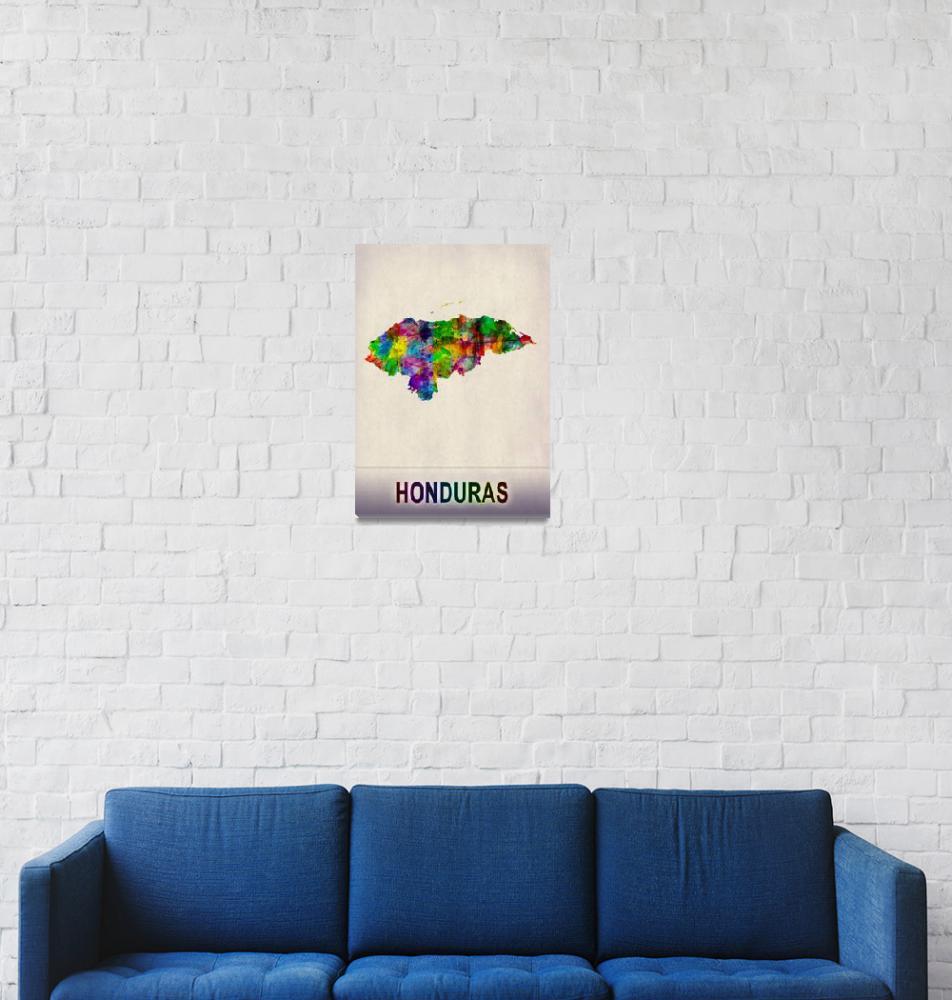 """Honduras Map""  by Towseef"