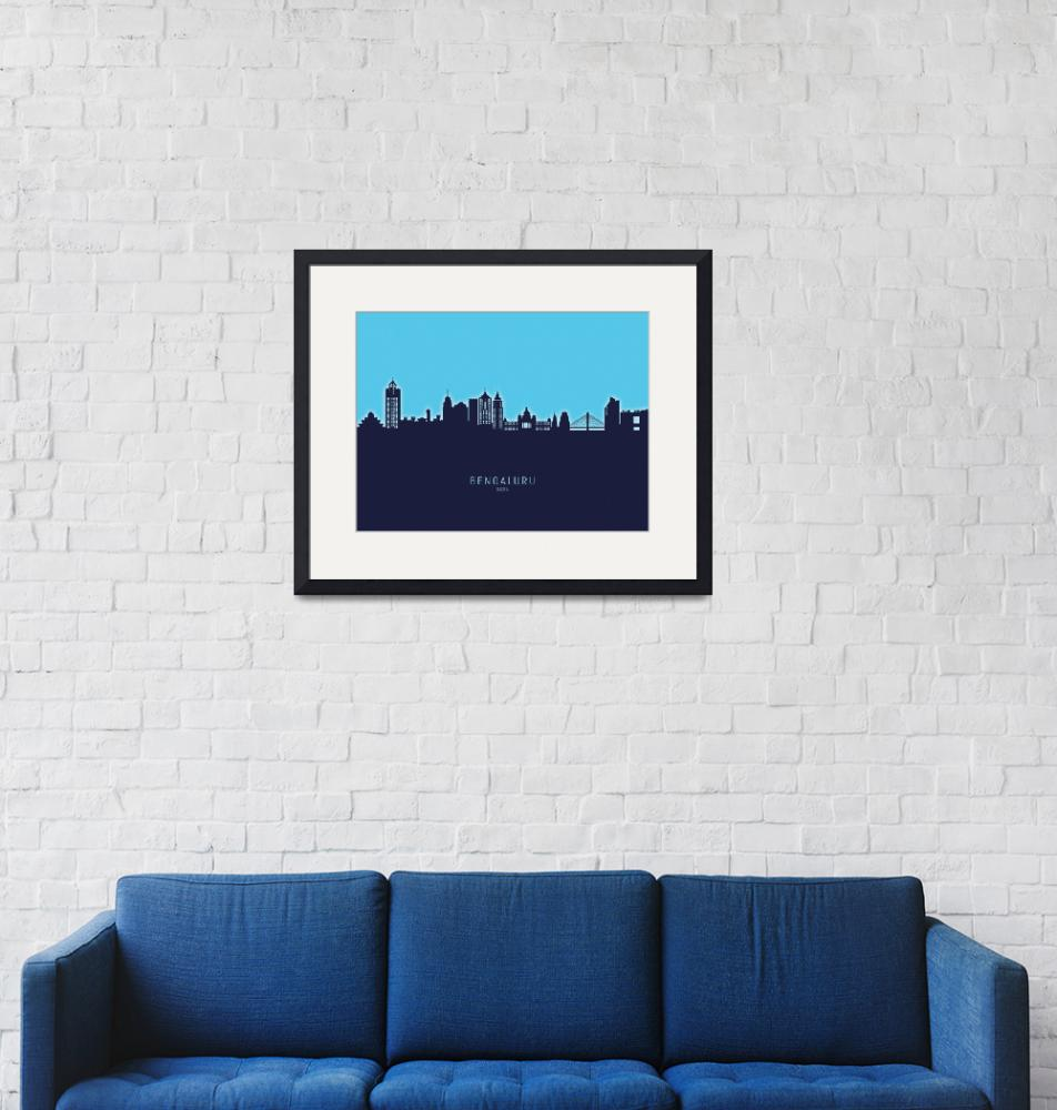 """Bengaluru Skyline India Bangalore""  (2020) by ModernArtPrints"