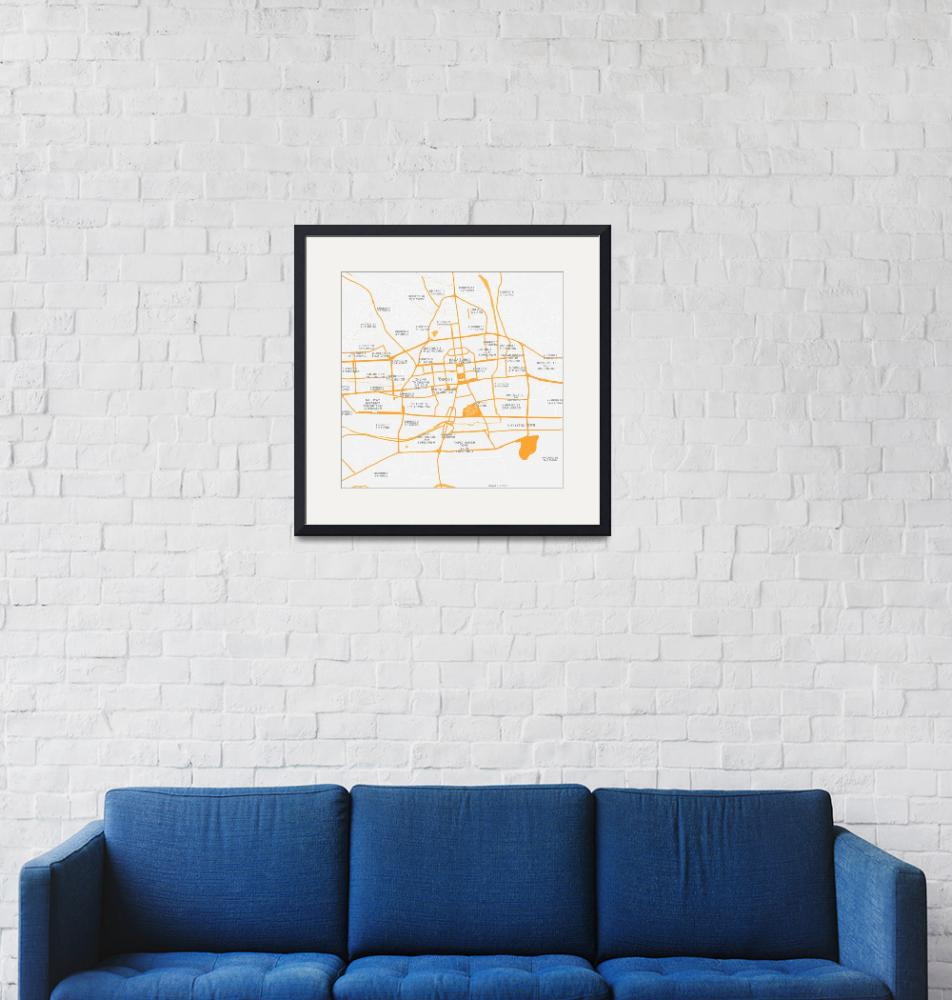 """Minimalist Modern Map of  Ulanbatar, Mongolia""  by motionage"