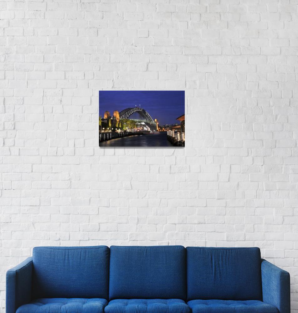 """The Sydney Bridge at Dusk""  (2010) by Impression"