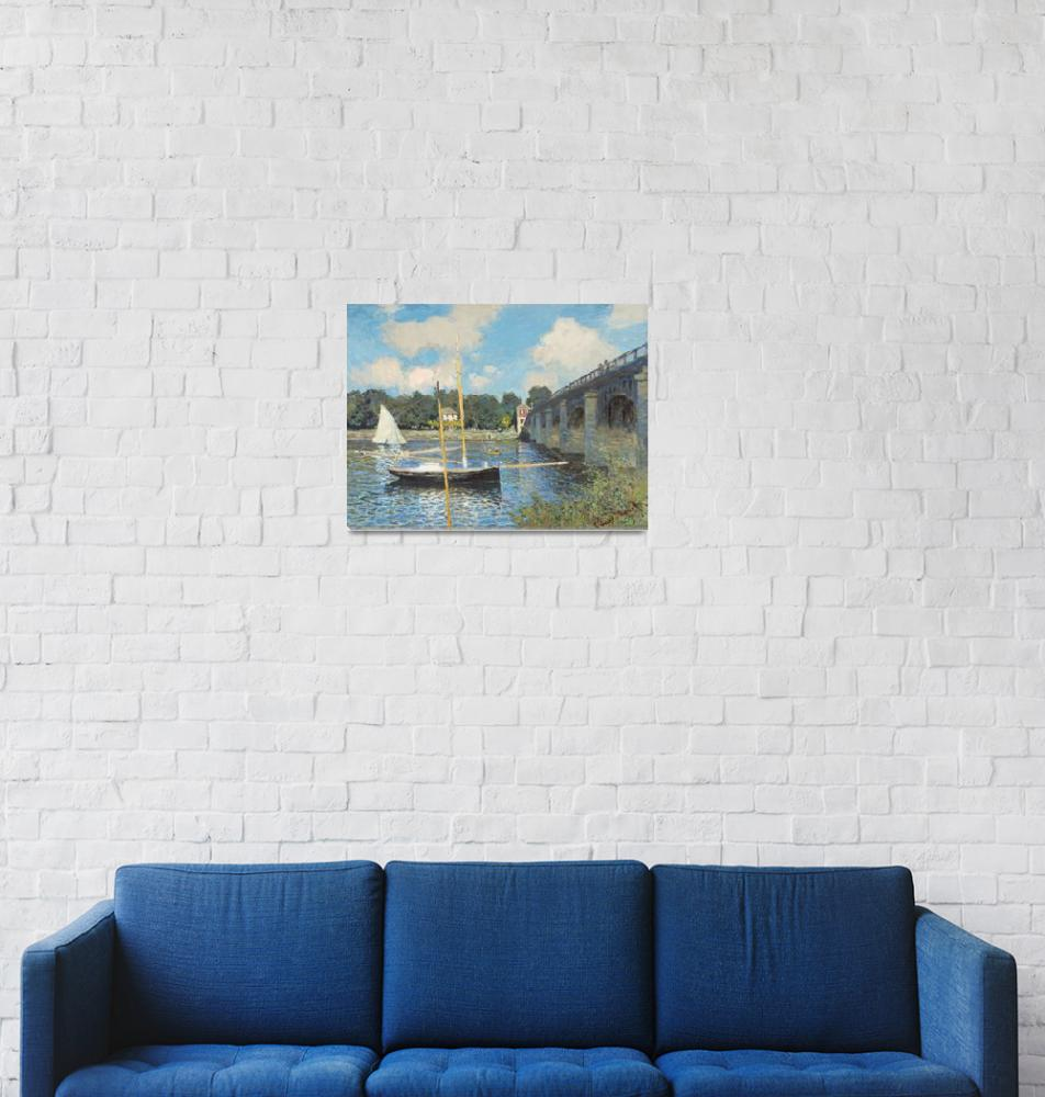 """""""The Bridge at Argenteuil by Monet"""" by FineArtClassics"""