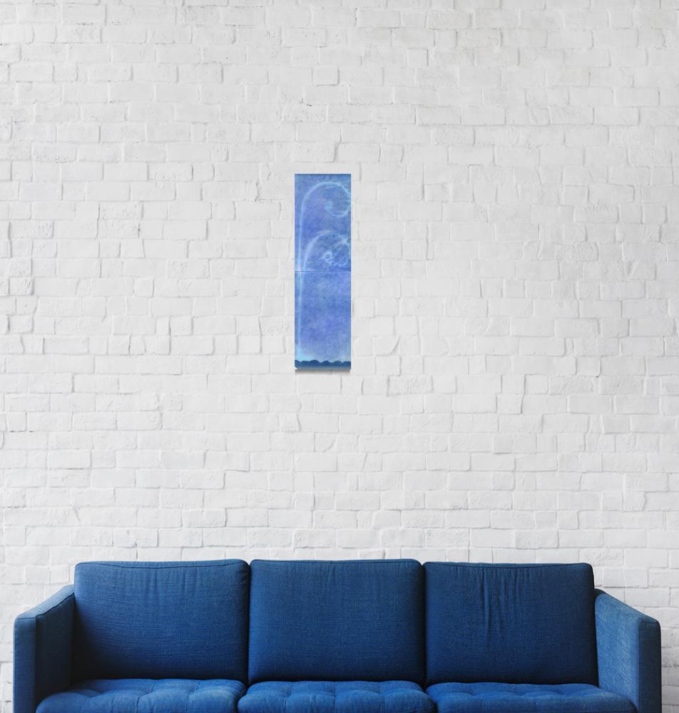 """""""rubbing cyanotype blue frottage""""  (2012) by jnanian"""