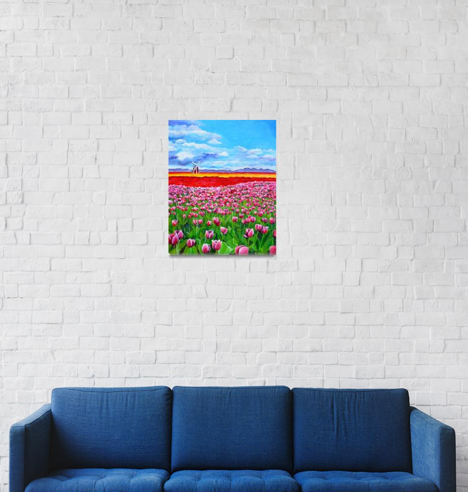 """""""Field of Tulips""""  (2015) by Littlepig"""