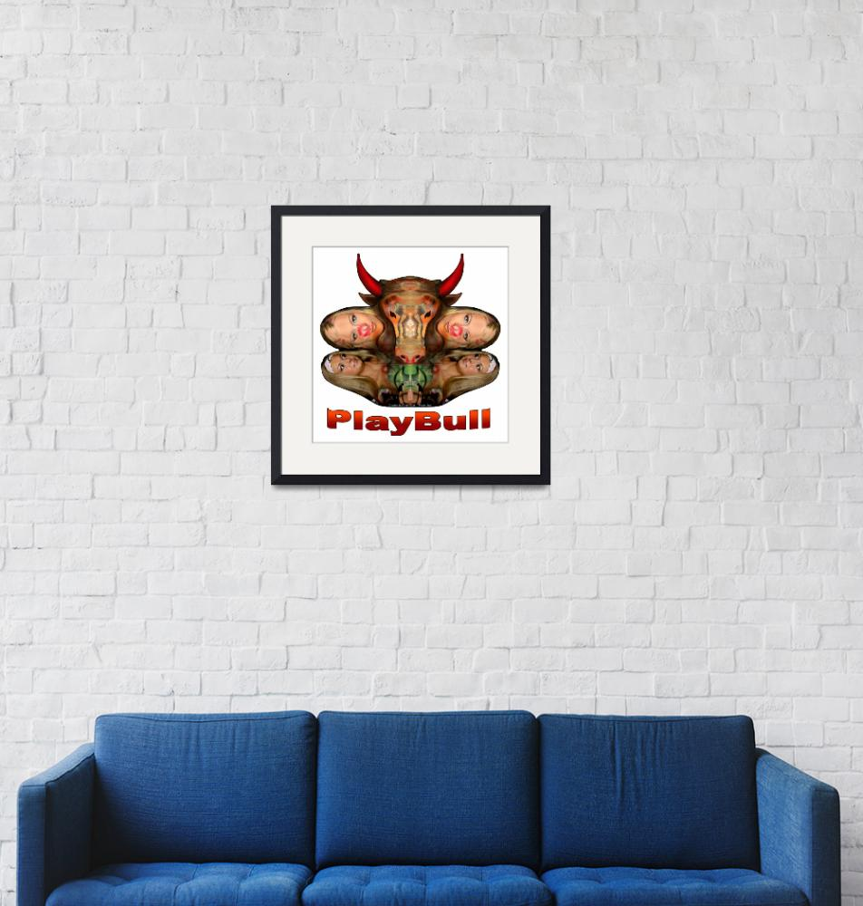 """PlayBull enhanced (white background)""  (2007) by originartzi"