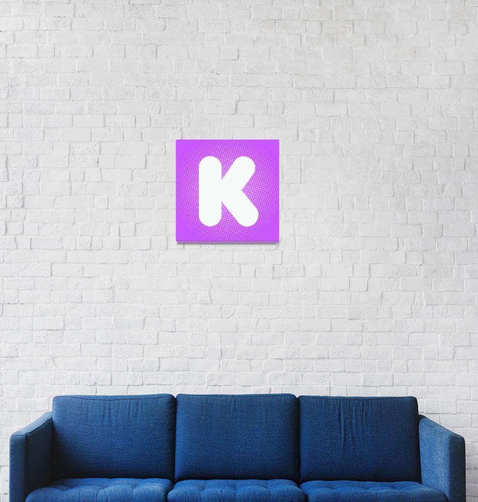 """""""K-dunkin-donuts""""  (2012) by LetterPopArt"""