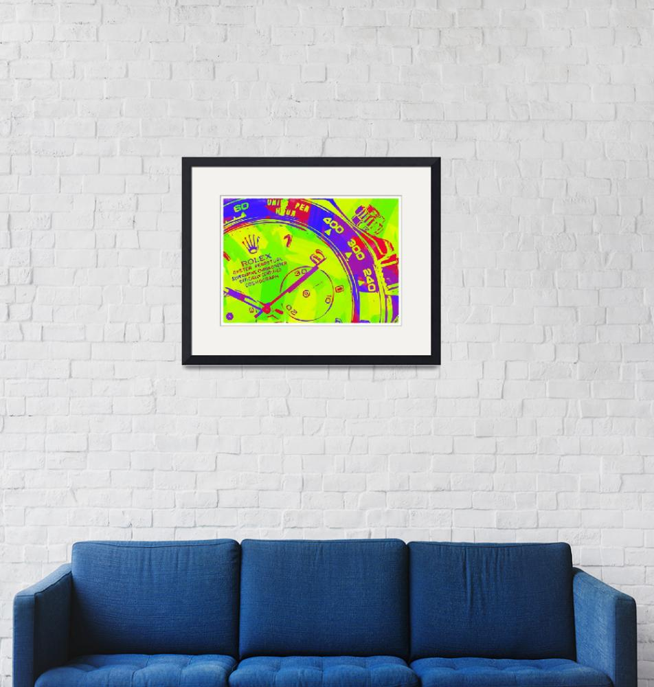 """""""Abstract Rolex Paint 8""""  by palmsrick"""
