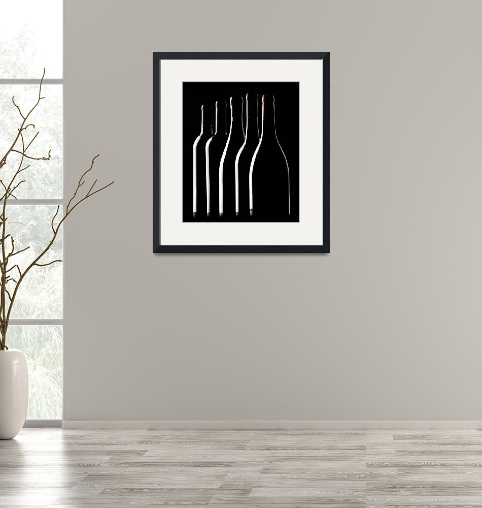 """""""Wine Bottle Silhouettes""""  (2006) by winecountrycreations"""