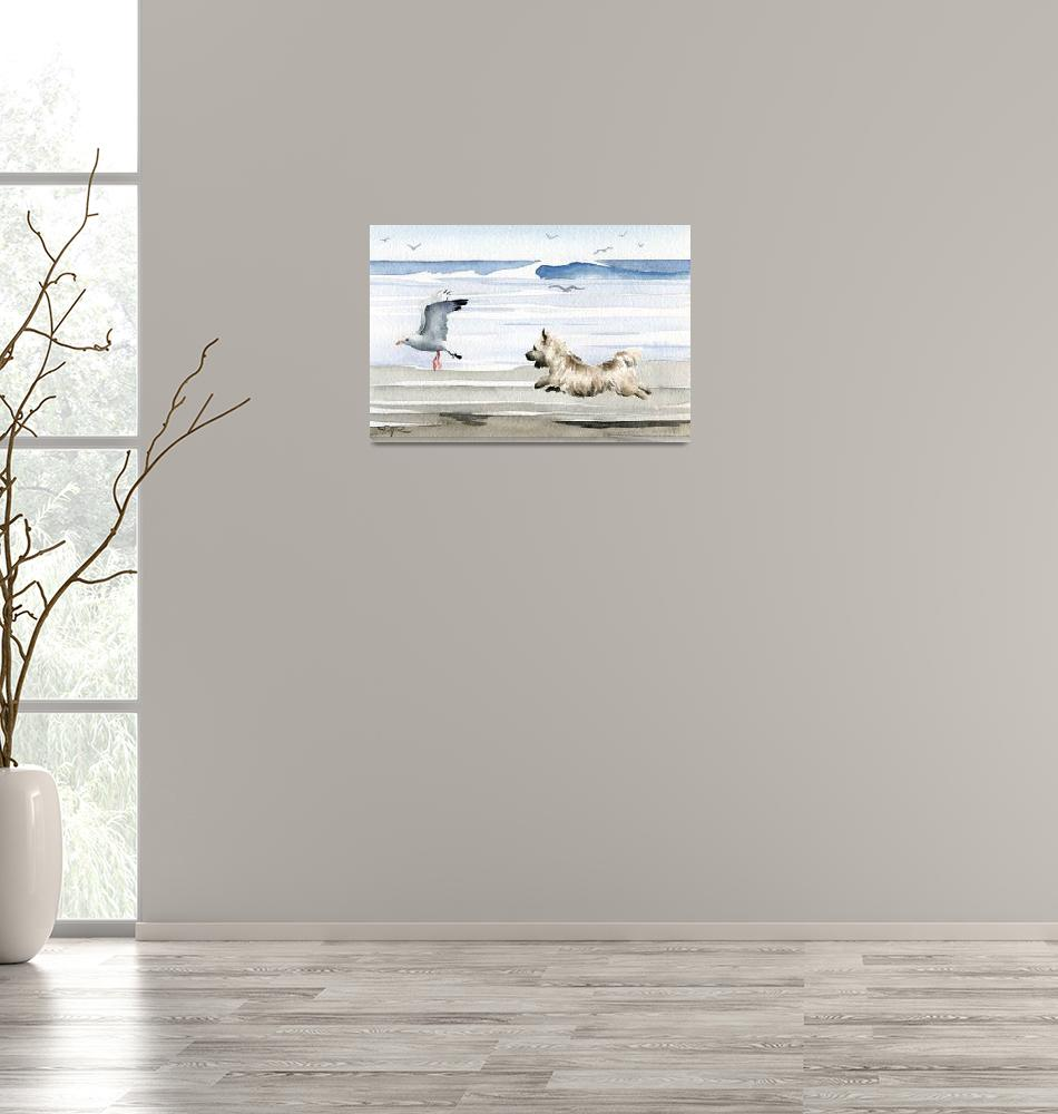 """Cairn Terrier at the Beach""  (2015) by k9artgallery"